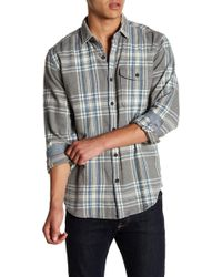 Jeremiah - Marin Herringbone Flannel Plaid Shirt - Lyst
