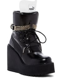 PUMA | Rihanna Lace-up Wedge Boot (women) | Lyst