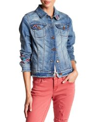 Vintage America - Lena Frayed Denim Jacket - Lyst