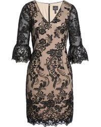 Adrianna Papell | Eillen Embroidered Lace Dress | Lyst