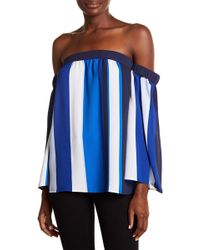 Cece by Cynthia Steffe - Off-the-shoulder Bold Escape Shirt - Lyst