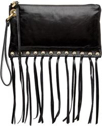 Hobo - Cass Leather Fringe Wristlet - Lyst