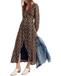 deed5c6626a Madewell Deep-v Maxi Dress In Cactus Flower in Blue - Lyst