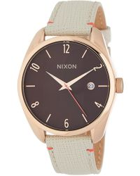 Nixon | Women's Bullet Leather Strap Watch, 38mm | Lyst
