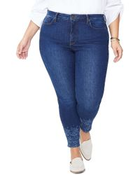 938db7814116f9 NYDJ - Ami Floral Cuff High Waist Ankle Skinny Jeans (cooper) (plus Size