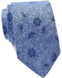 Calvin Klein - Brushed Floral Tie - Lyst