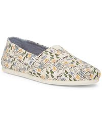 TOMS - Classic Portland Printed Natural Canvas Slip-on Shoe - Lyst