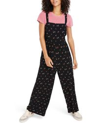 Madewell - Flower Toss Smocked Crop Jumpsuit - Lyst
