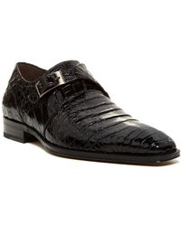 Mezlan - Gables Genuine Crocodile Monk Strap Shoe - Lyst