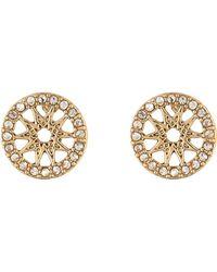 Marchesa - Coin Stud Button Earrings - Lyst