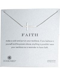 Dogeared - Faith Necklace - Lyst
