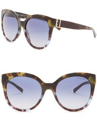 5e89f76775f4 Burberry - 55mm Cat Eye Sunglasses - Lyst