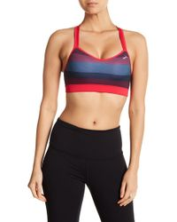 Brooks - Uprise Crossback Stripe Sports Bra - Lyst