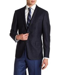 Hickey Freeman - Classic Fit Blue Two Button Notch Lapel Wool Sports Coat - Lyst