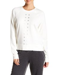 Nanette Lepore - Graphic Raglan Sleeve Pullover Sweater - Lyst
