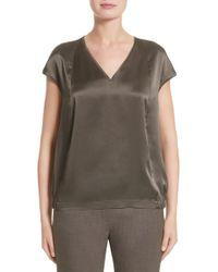 Lafayette 148 New York - Aisley Luminous Cloth Blouse - Lyst
