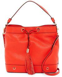 MILLY - Astor Leather Tassel Hobo - Lyst