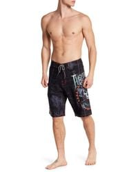 Affliction - Graphic Printed Boardshort - Lyst