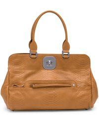 Longchamp - Gatsby Snake Embossed Leather Shoulder Bag - Lyst