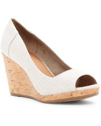 TOMS - Stella Canvas Wedge Sandal - Lyst