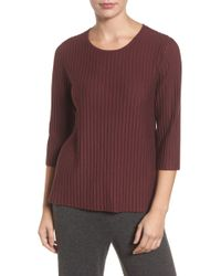Eileen Fisher - Ribbed Merino Wool Jumper (regular & Petite) - Lyst