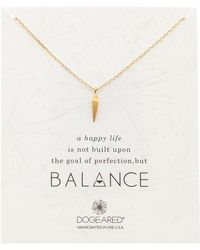 Dogeared - Balance Faceted Spear Pendant Necklace - Lyst