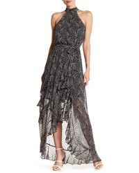 Bebe | Star Print Ruffle Dress | Lyst