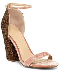 Guess - Bambam Glittery Heel Sandal - Lyst