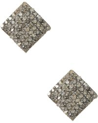 Adornia - Ethel Champagne Diamond Stud Earrings - 0.90 Ctw - Lyst