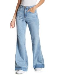 Wildfox - Shields Flare Washed Denim - Lyst