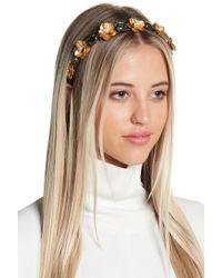 Cara - Floral Rhinestone Headband - Lyst