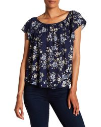 Philosophy Apparel - Flutter Sleeve Printed Blouse - Lyst