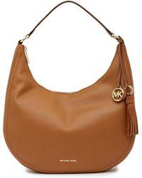 Michael Kors - Large Leather Hobo Bag - Lyst