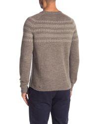 Save Khaki - Fair Isle Crew Neck Sweater - Lyst
