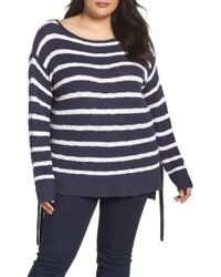 Caslon - Tunic Side Tie Striped Jumper (plus Size) - Lyst