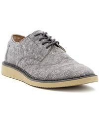 TOMS - Brogue Chambray Derby - Lyst