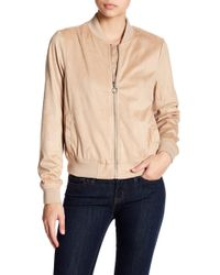 Bagatelle - Embroidered Faux Suede Bomber Jacket - Lyst