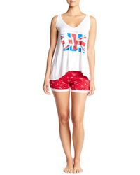 Curvy Couture - London Tank Top & Shorts Pajama Set - Lyst