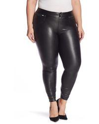 Hue - Leatherette Faux Leather Leggings (plus Size) - Lyst