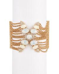 Jenny Packham - Wanderlust Crystal Chain Bracelet - Lyst