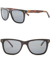 c83c426465 Lyst - Ted Baker Round 48mm Acetate Frame Sunglasses in Black for Men