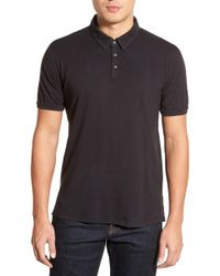 Velvet By Graham & Spencer - 'randall' Slub Knit Polo - Lyst