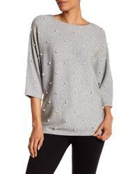Catherine Malandrino - Embellished Dolman Sleeve Sweater - Lyst