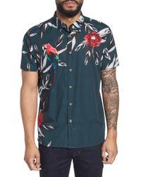Ted Baker - Trim Fit Parrot Print Sport Shirt - Lyst