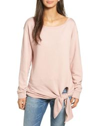 Hinge - Tie Front Pullover - Lyst