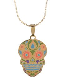 ALEX AND ANI - Colour Infusion Calavera Necklace - Lyst