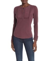 Lucky Brand - Embroidered Novelty Bib Long Sleeve Thermal Top - Lyst