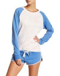 The Laundry Room Raglan Pullover Sweatshirt - Blue