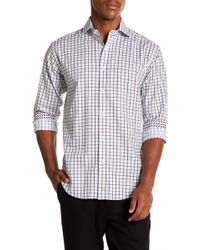 Thomas Dean - Multicolroed Check Long Sleeve Sport Fit Shirt - Lyst