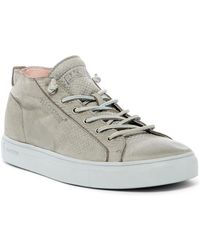 Blackstone - Snake Embossed Mid Lace-up Trainer - Lyst